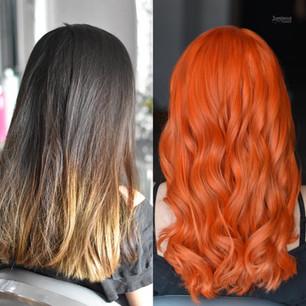 Orange Hair Colour Transformation