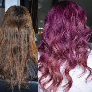 Brown To Purple Hair