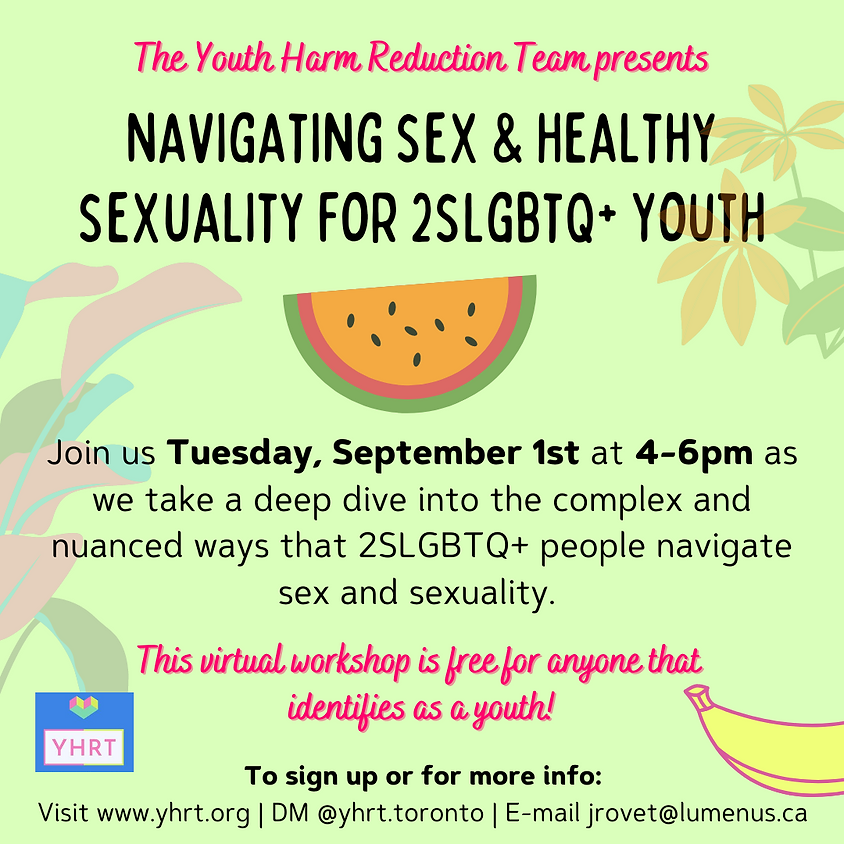 Navigating Sex & Healthy Sexuality for 2SLGBTQ+ Youth