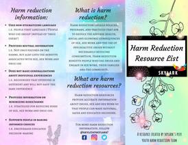 Harm Reduction Resource List