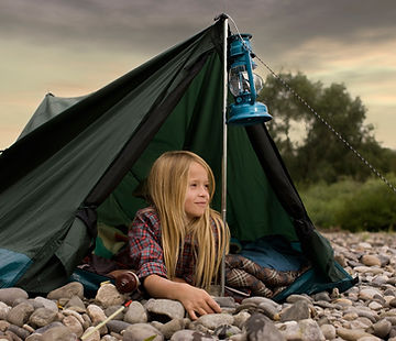 Camping fille