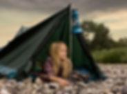 Camping ragazza