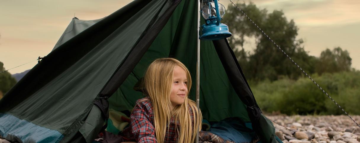 Meisje Camping