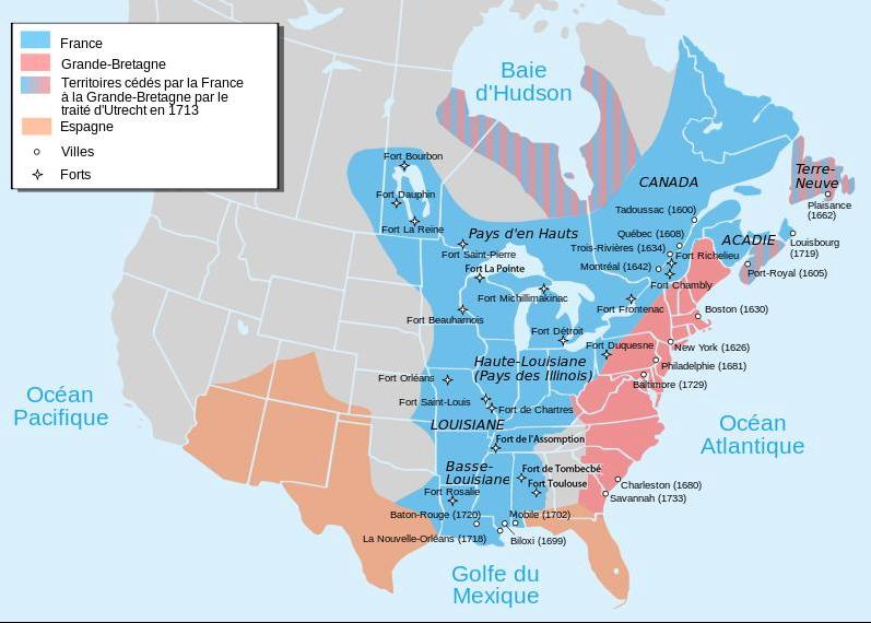 Phân bố các thuộc địa người da trắng