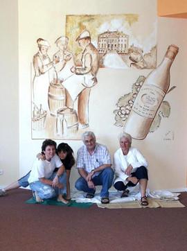 Salle Margaux avec Nadine, Yves et moi même avec ma fille