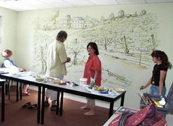 Salle Moulis avec Martine, Françoise et Jacky
