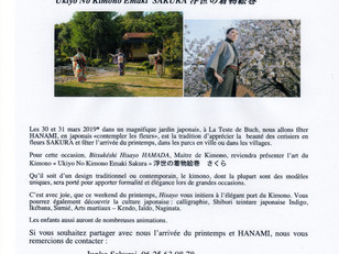 30 & 31 Mars, Hanami et Kimonos weekend culturel & gourmand