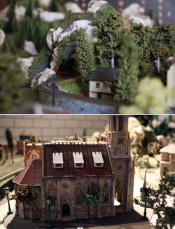 Sortie de tunnel & cathédrale