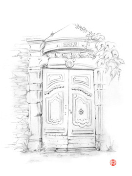 Vieille porte de conques