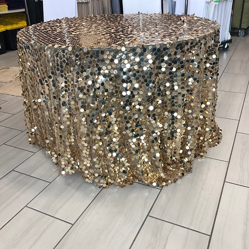 Gold Payette Sequin - 6ft BANQUET TABLE