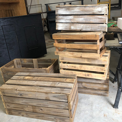 Large Wood Crate (on the floor / bottom of stack)