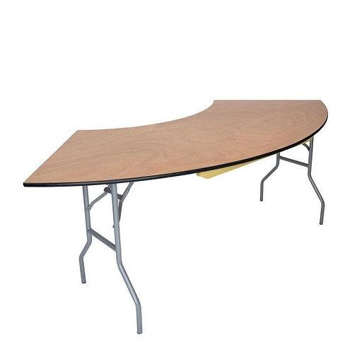 Wood Serpentine Table (curve table)