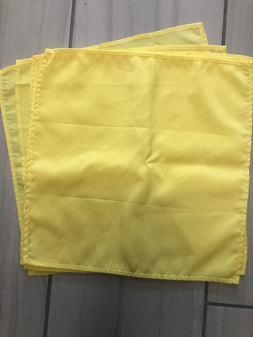 17x17 Bright yellow (canary) napkins - aprox 90 qty
