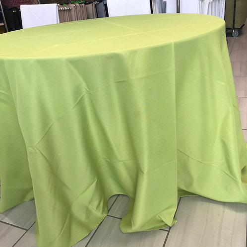 """Lime Polyester Tablecloth - 120"""""""