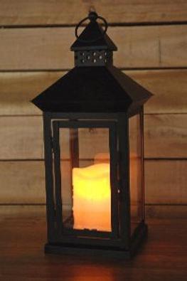 Black lanterns w/ led working candle