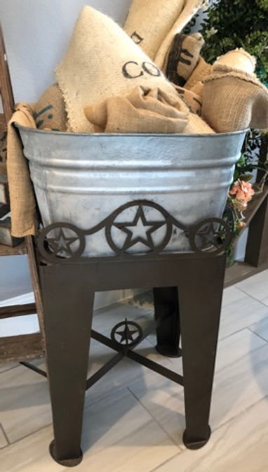 Metal Texas Star Drink Stand