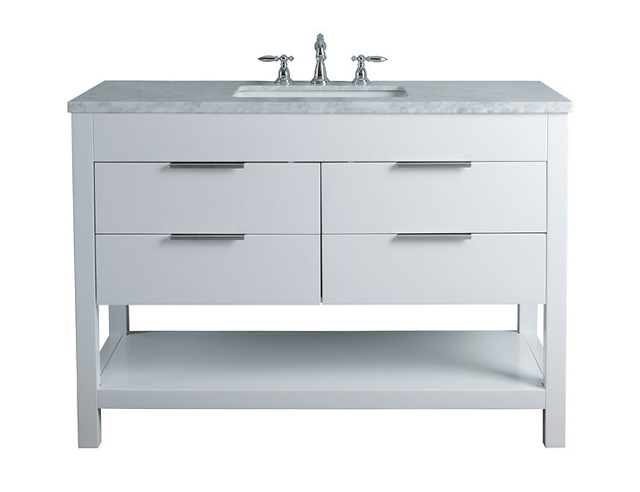 "Rochester 48"" White Single Sink Vanity"