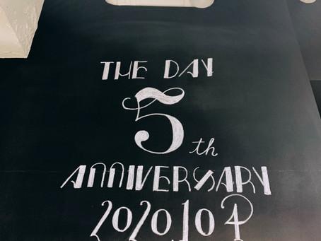 5周年!!!
