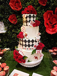 alice in wonderland cake party quinceanera argyle cake