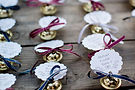 bells at wedding favors sleigh bells
