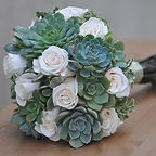 bouquet wedding bouquet roses and cactus succulents