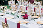gold chargers red napkins elegant wedding