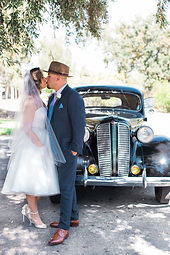 1940s wedding 1946 dodge coupe retro weddings