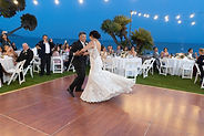 bride dancin with father dress twirling