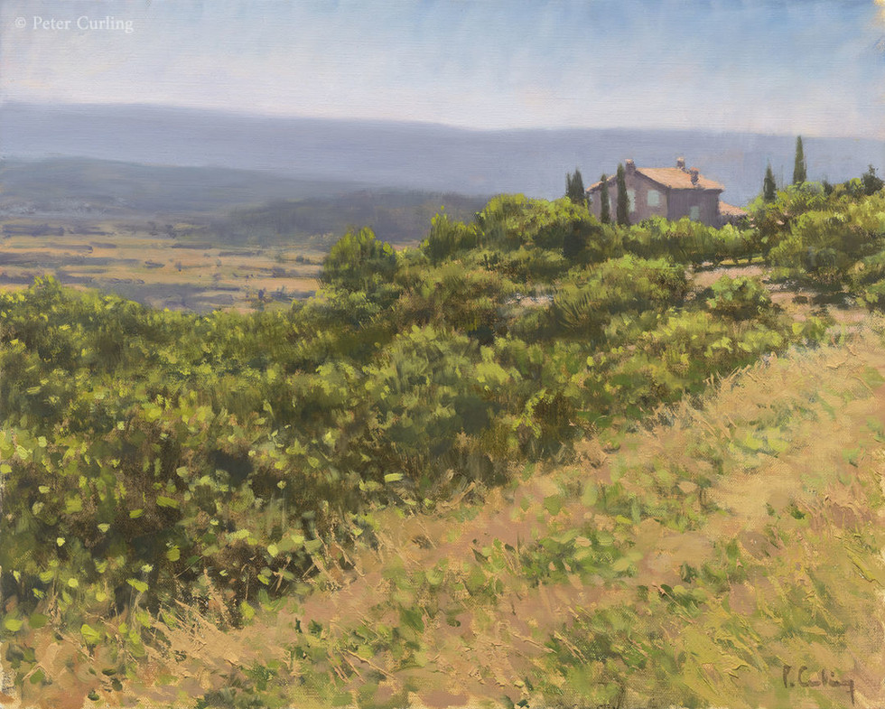 The Luberon Valley from above Gordes