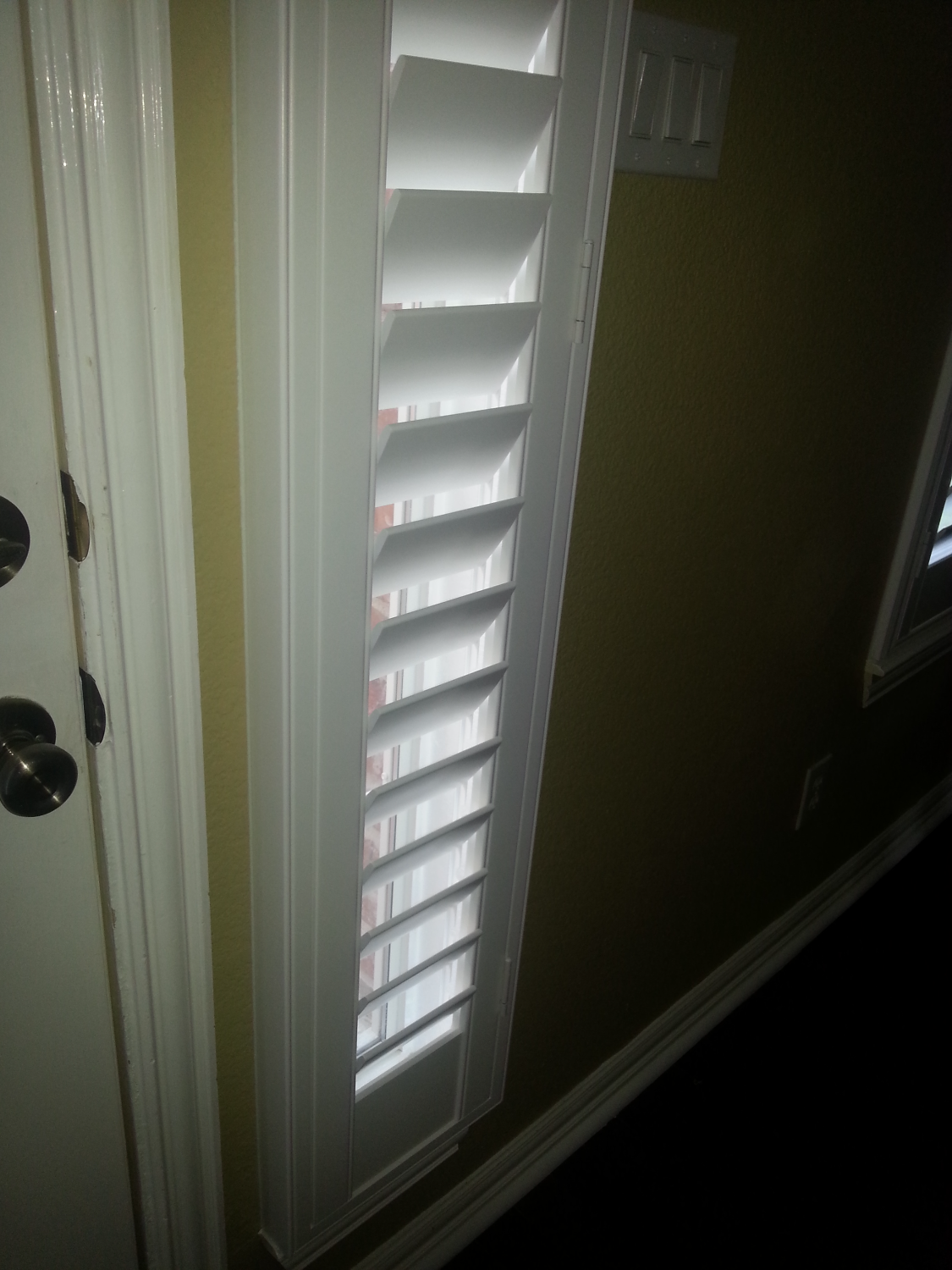 Shutters on Sidelights