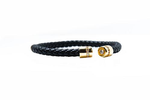 Zircon Encrusted Rope Style Bangle
