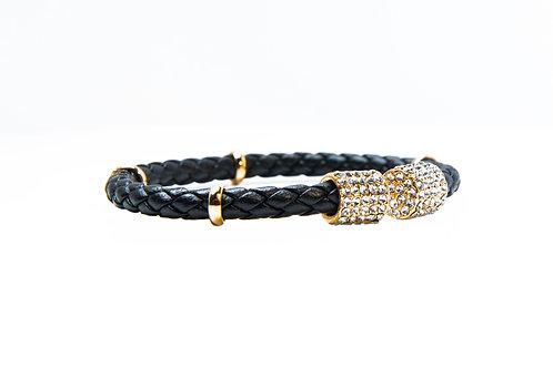 Zircon Encrusted Open Rope Style Bangle