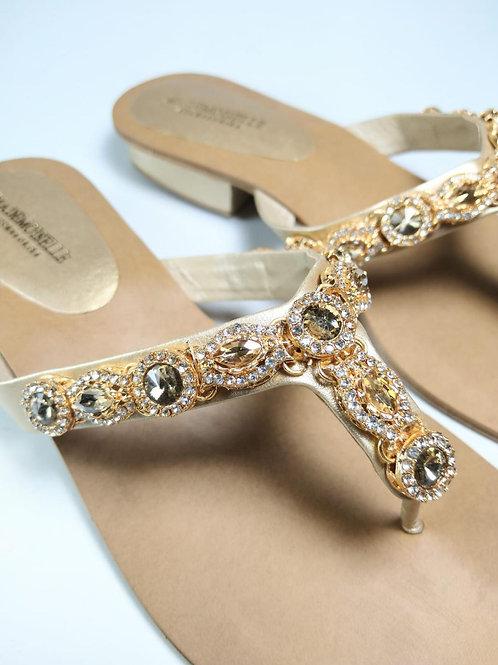 Jewelled Classic Beige & Gold