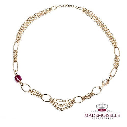 Gold plated short styled Tuscan Necklace