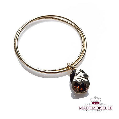 Tuscan Stone Charm Double Bracelet
