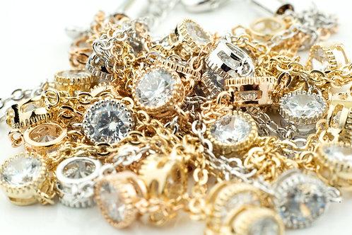 Tri Layered Multi Stones Necklace