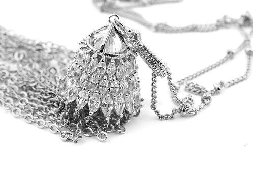 Crystallised Cascade Necklace