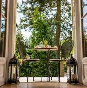 Open double doors from the Garden View