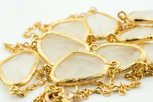 Pastel Beige Stones Necklace