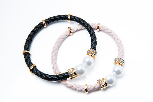 Pearl and Zircon Decorated Bangle