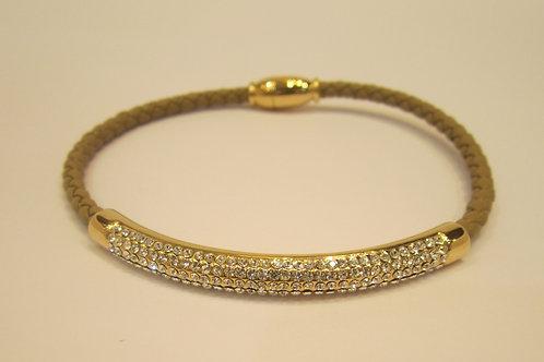 Beach Rope Style Crystal Encrusted Bracelet withMagnetic Lock