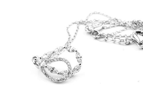 Crystallised Double Loop Necklace & Earring Set