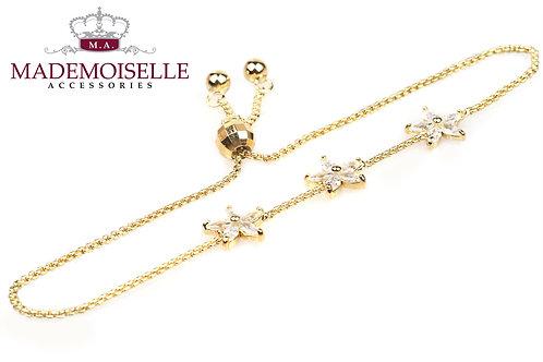 3 Stars Gold Plated Bracelet