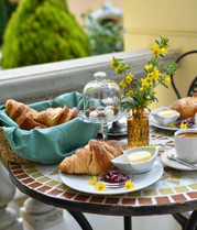 Croissant table at Breakfast