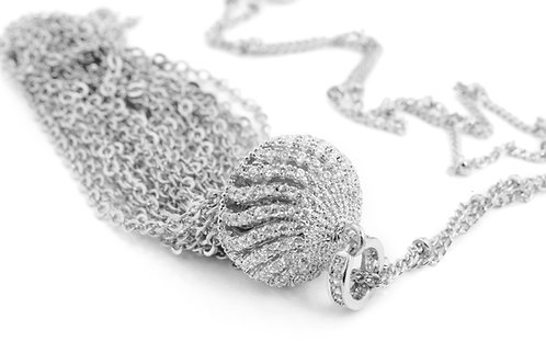 Long Tassel Chain and Crystallised Necklace