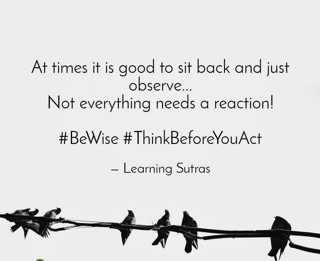 Think n act quotes - Learning Sutras