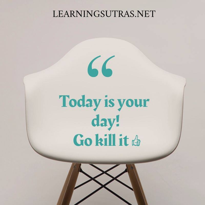 Quote of the day - Learning Sutras