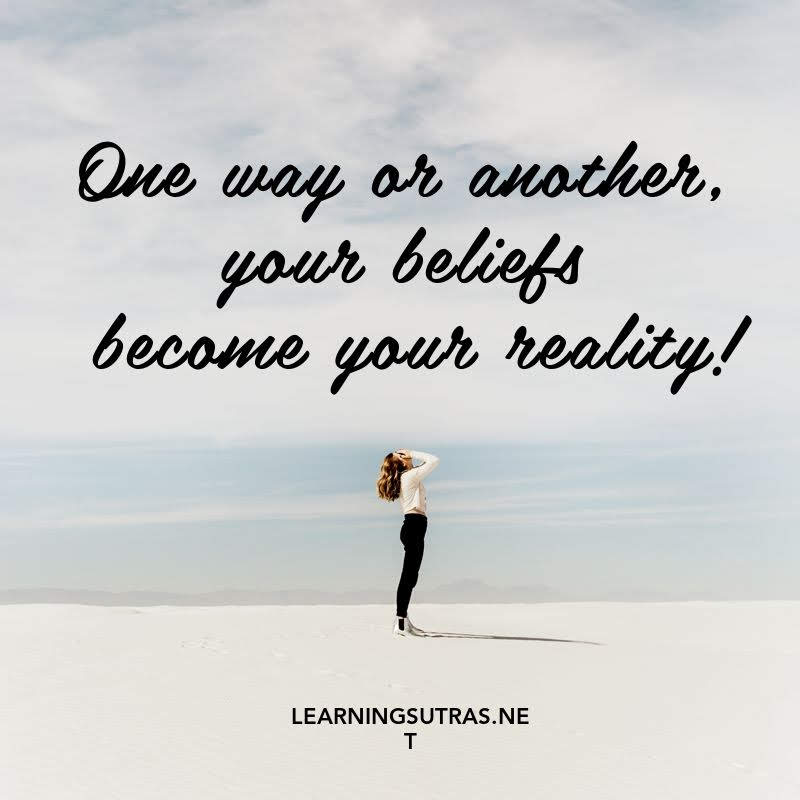 Belief Quote Learning Sutras