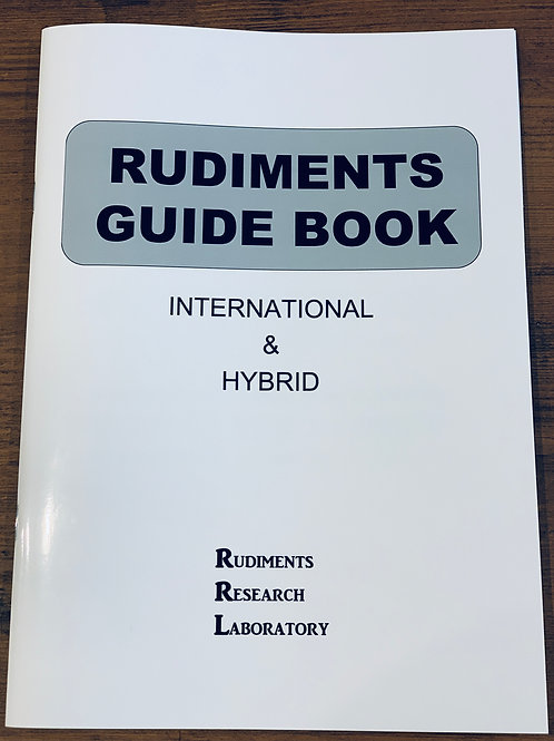 RUDIMENTS GUIDE BOOK