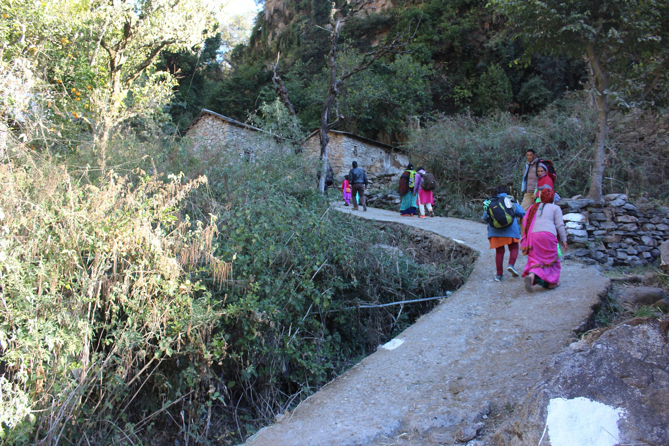 Way To Ansuya Temple
